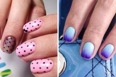 Ideas con estilo para manicuras enuñas cortas
