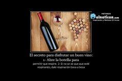 El secreto para disfrutar un buen vino