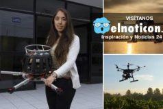 Una joven de 23 años desarrolló un dron que detecta la contaminación en el aire