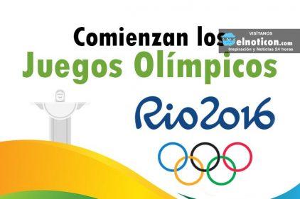 Comienzan los Juegos Olímpicos Río 2016