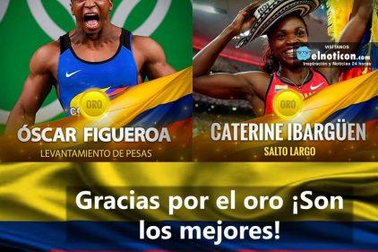 Medallistas orgullo colombiano ¡Mil gracias por el oro!