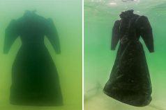 Sumergió un vestido al Mar Muerto por 2 años. Cuando lo sacó se convirtió en una obra maestra de sal