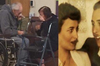 Estuvieron juntos por 62 años, pero ahora son obligados a separarse. Vivieron un emotivo adiós