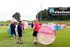 Mira el entrenamiento más divertido y loco del Barcelona