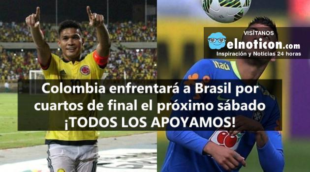 Colombia enfrentará a Brasil por cuartos de final el próximo sábado