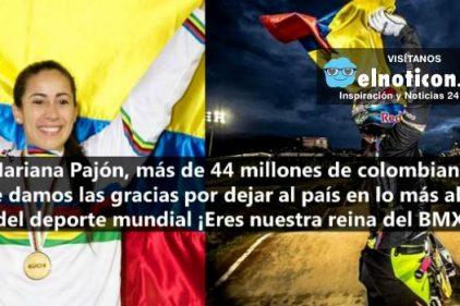 Mariana Pajón ¡COLOMBIA TE DA LAS GRACIAS!