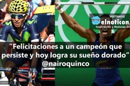 El bello mensaje de Nairo Quintana a nuestro medallista Óscar Figueroa