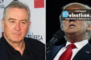 Donald Trump está 'completamente loco', dice Robert de Niro ¡Estamos de acuerdo!