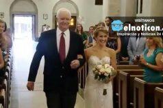 Novia fue entregada en la iglesia por el hombre que recibió el corazón de su padre