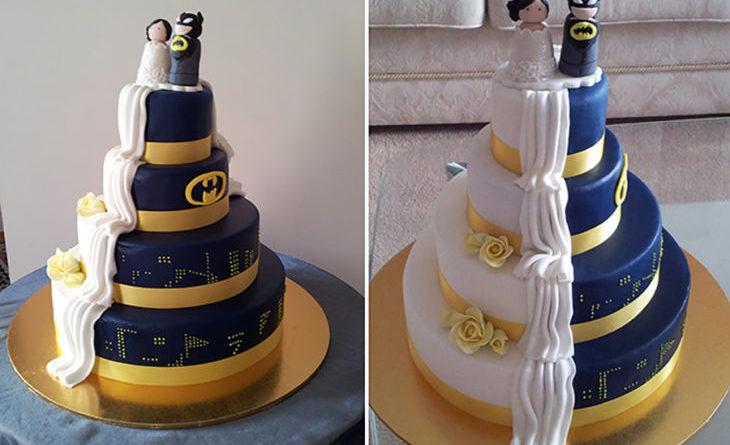 12 novios que crearon una mezcla maravillosa en su pastel de bodas