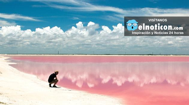 Conoce la playa de Las Coloradas en México, allí el agua es de color rosado