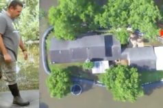 Sus vecinos lo llamaron loco por invertir 8.300 dólares en un dique de plástico. Más tarde, salvó su casa