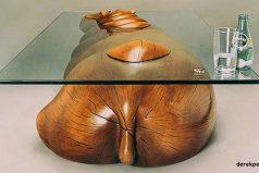 NoesPhotoshop, son mesas enlas que «nadan» animales