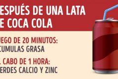 Qué sucede ennuestro organismo después deuna lata deCoca Cola
