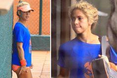 Shakira muestra sus esculturales piernas