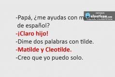 Papá ¿Me ayudas con mi tarea de español?