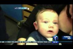 La reacción de este bebé al escuchar a su mamita por primera vez te hará llorar ¡Hermoso!