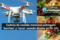Ahora los domicilios de comidas rápidas se harán con drones en Estados Unidos