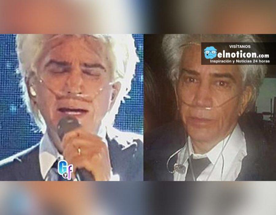 Impactantes imágenes, José Luis Rodríguez 'El Puma' está delicado de salud, pero no cancela sus conciertos
