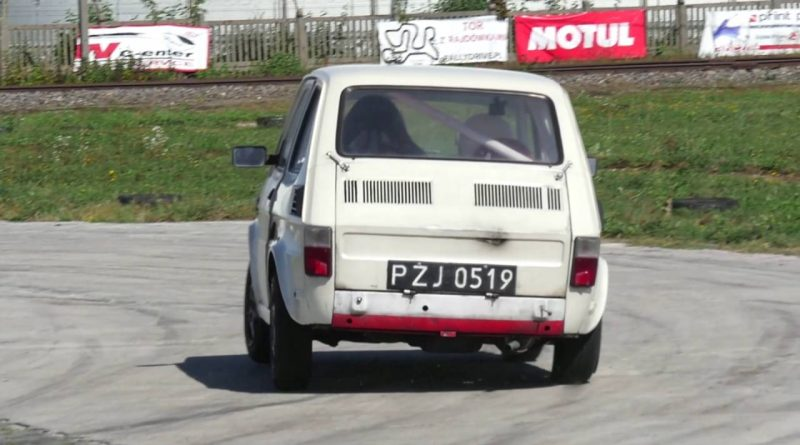 Maluch-w-Maluchu-45-years-old-boy-is-driving-Fiat-126p-on-the-track