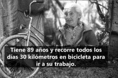 Elena Gálvez sueña algún día con tener una bicicleta eléctrica