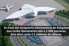 Así es el aeropuerto en forma de ave inaugurado en Turkmenistán