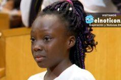 El discurso con lágrimas de esta niña que conmovió a Estados Unidos ¡NO más violencia racial!