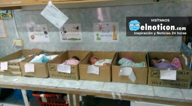 Hospital de Venezuela pone a recién nacidos en cajas de cartón a falta de incubadoras