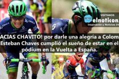 Esteban Chaves se sube al pódium de la Vuelta a España