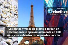 Sabes, ¿Por qué Francia es el primer país del mundo en prohibir los platos y cubiertos de plástico?