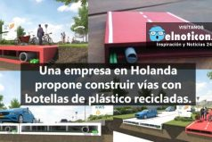 Así serán las carreteras del futuro, hecha en plástico