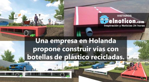 Así será la carretera del futuro, hecha en plástico