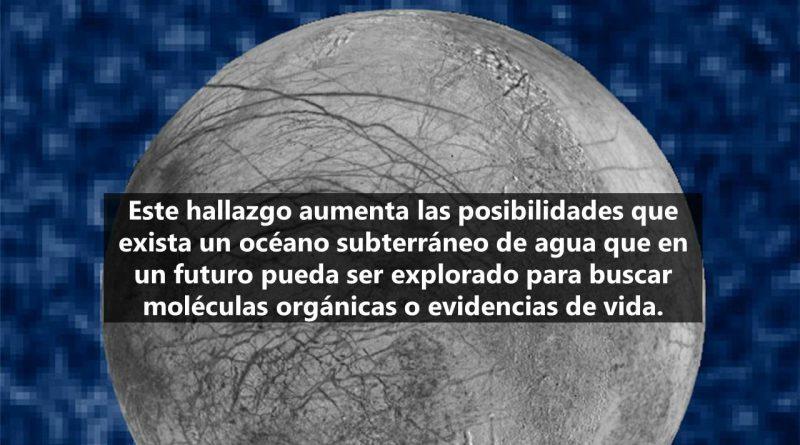 La NASA detecta vapor en una luna del planeta Júpiter