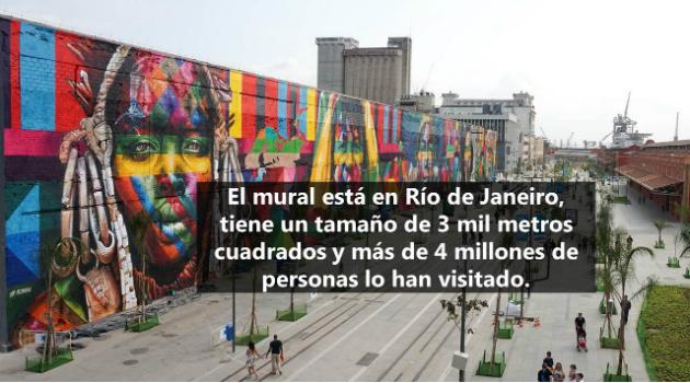 El mural más grande del mundo que entró en los récords Guinness