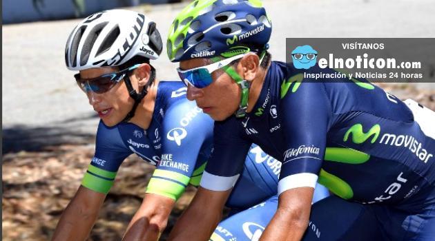 Nairo Quintana primero y Esteban Chaves tercero en la general de la Vuelta a Espana