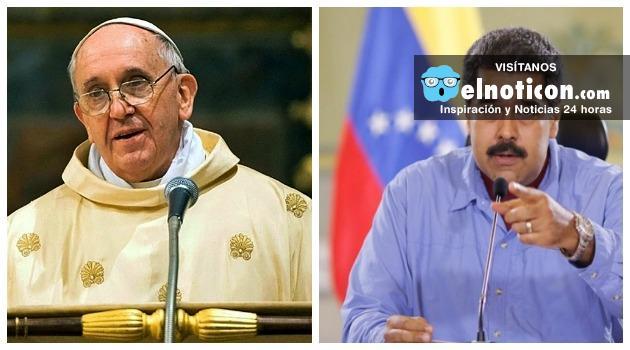 Papa Francisco apoya el diálogo entre Nicolás Maduro y la oposición venezolana