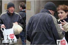 Turista le da pizza a un mendigo. Lo que no sabía es que era Richard Gere en medio de una filmación