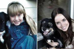 20Fotografías degente ysus mascotas años después
