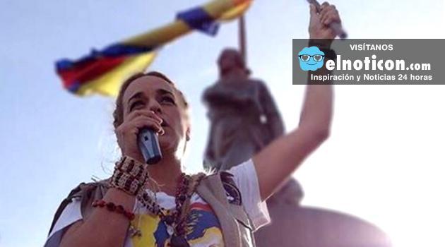 Lilian Tintori hace un llamado a desobediencia civil en paz