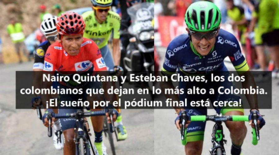 Nairo Quintana y Esteban Chaves, a unos pedalazos de hacer historia en la Vuelta a España