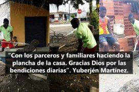 El medallista olímpico Yuberjén Martínez empezó a construir su propia casa