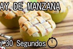 Cómo hacer un Pay de Manzana en 30 segundos ¡Qué delicia!