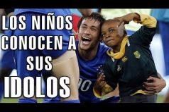 Así reaccionan los niños cuando conocen a su futbolista favorito ¡No pueden ocultar la emoción!