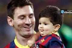 Thiago Messi sigue los pasos de su padre ¡hermosa familia!