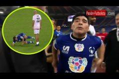 Así fue el desacuerdo entre Maradona y Verón en el partido 'Unidos por la paz' ¡Tal vez se equivocaron de partido!