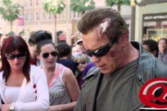 Arnold Schwarzenegger sorprende a sus fans vestido de 'Terminator' ¡Alucinante!