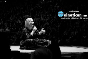 Adele recibió el regalo más romántico de aniversario en pleno concierto