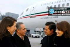 Enrique Peña Nieto viaja en el avión presidencial con familiares y amigos