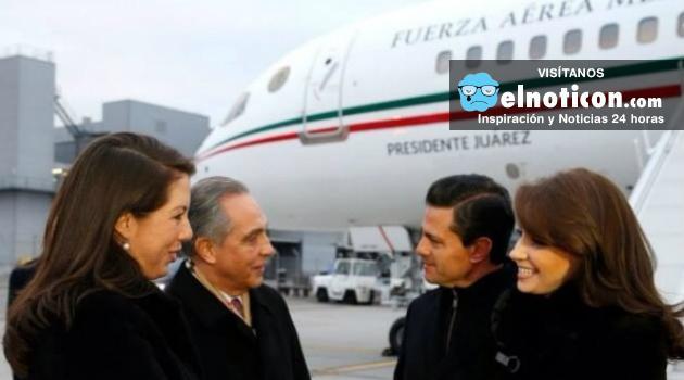 Enrique Peña Nieto viaja en avión presidencial con familiares y amigos