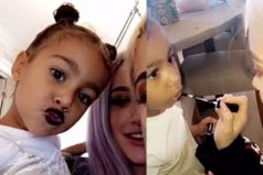 ¡La hija de Kim Kardashian ya usa maquillaje!